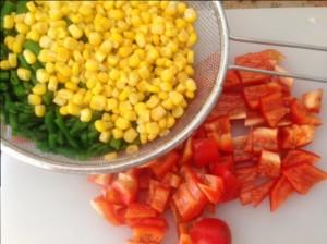 Paprika, Mais und Spargel